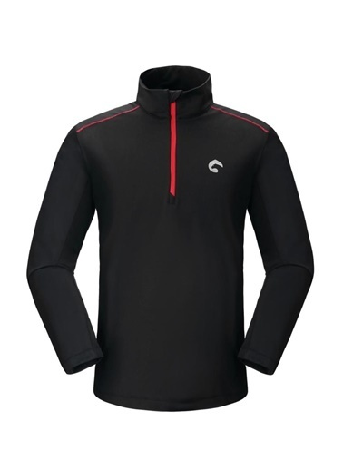 Panthzer Panthzer Bosten Erkek Sweatshirt Siyah/Kırmızı Siyah